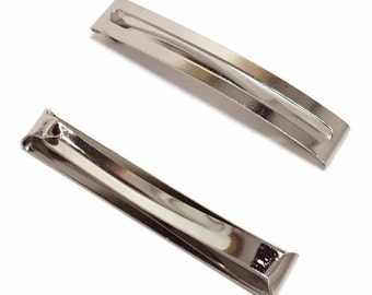 5 Double Bar Barrettes - 60mm (2 5/16 inch)