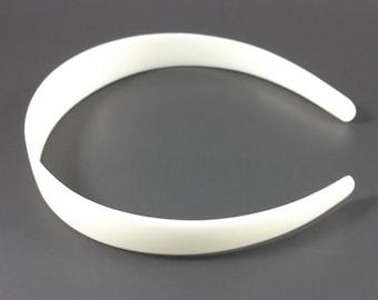 25 White (Off-White) Plastic Headband Blanks - 25mm (1 inch)