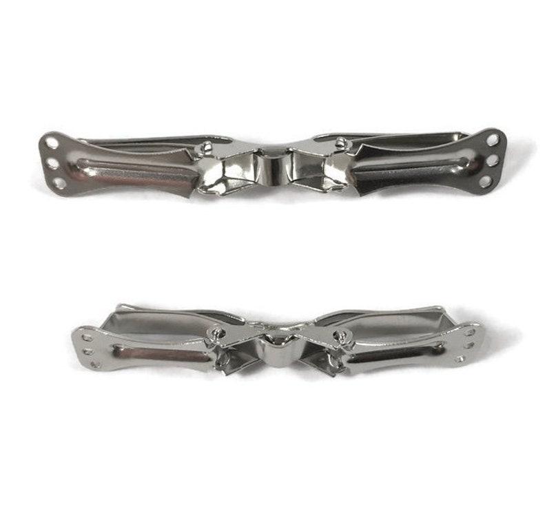 6 Metal Bow Tie Clips  Choose Boys or Mens image 0