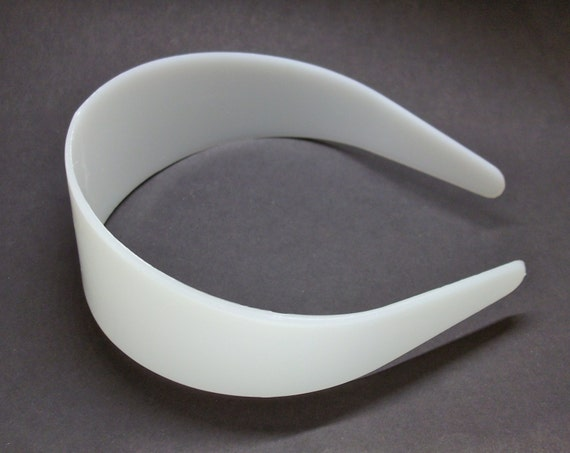 Aliceband Cores Blanks For you to cover 10 White Plastic Headband