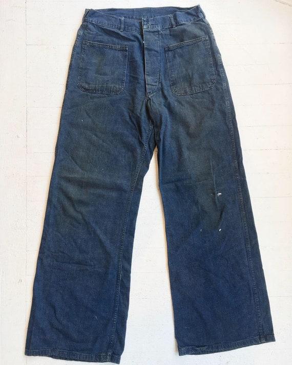 """1940s USN Denim 32"""" waist"""