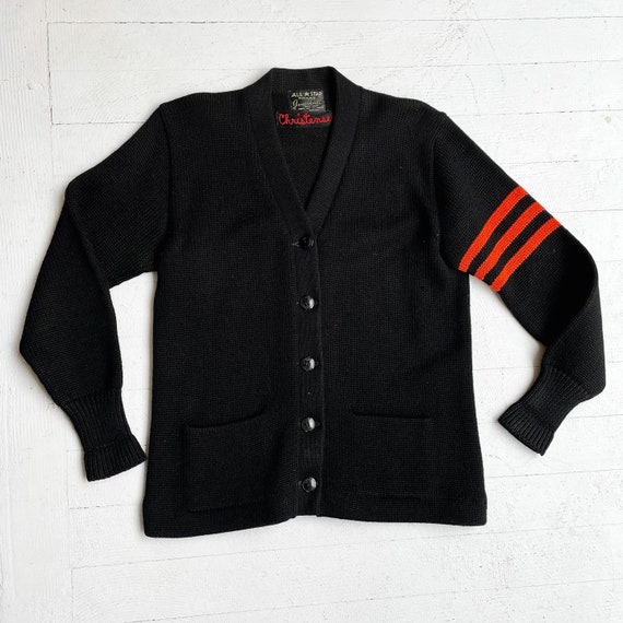 1940s Varsity cardigan sweater