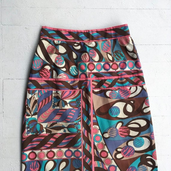 Emilio Pucci Cotton Maxi Skirt signed