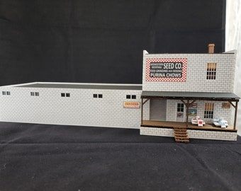 HO Scale Laser Cut Feed Store Craftsman Kit