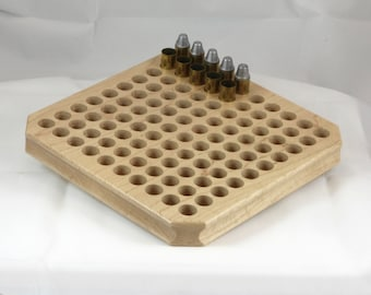 NEW! 100 round maple reloading block with deep holes for rifle calibers