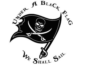 Laptops and More! Black Beards Jolly Roger Pirate Flag Vinyl Decal Tumblers Perfect for Car Windows