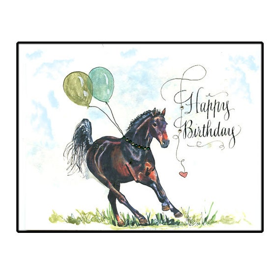 Happy Birthday Thoroughbred Horse Card