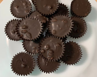 15  English Toffee Dark Chocolate Peanut Butter Cups FREE SHIPPING