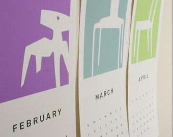 2021 Mid-Century Chairs Calendar