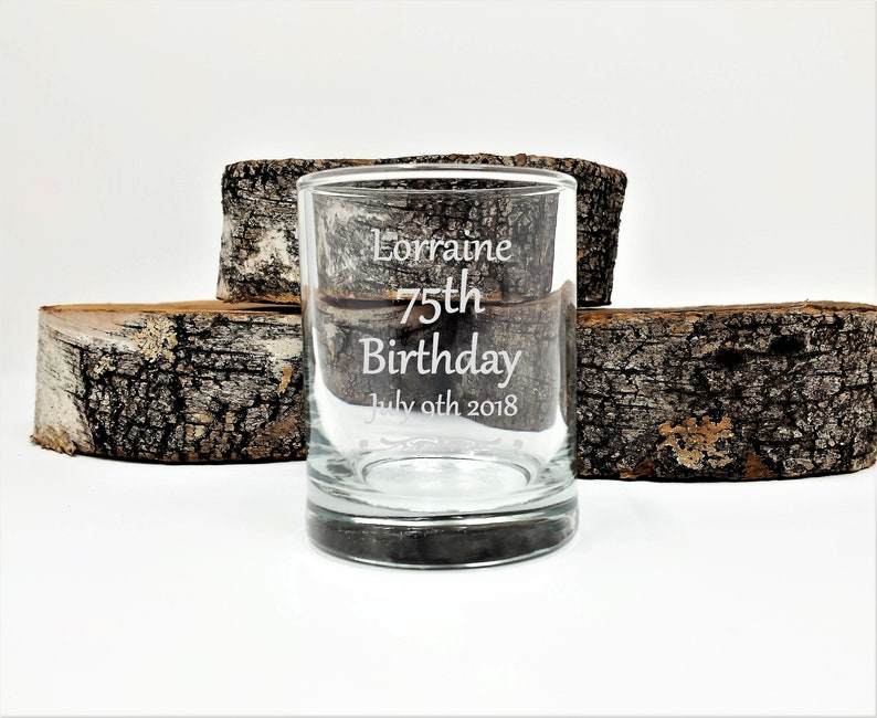 75th Birthday Personalized Party Favors 50 Pcs Engraved Candle