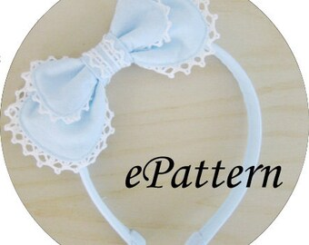 Fabric Lolita/Otome Headbow Sewing Pattern for Beginners (PDF for Immediate Download)