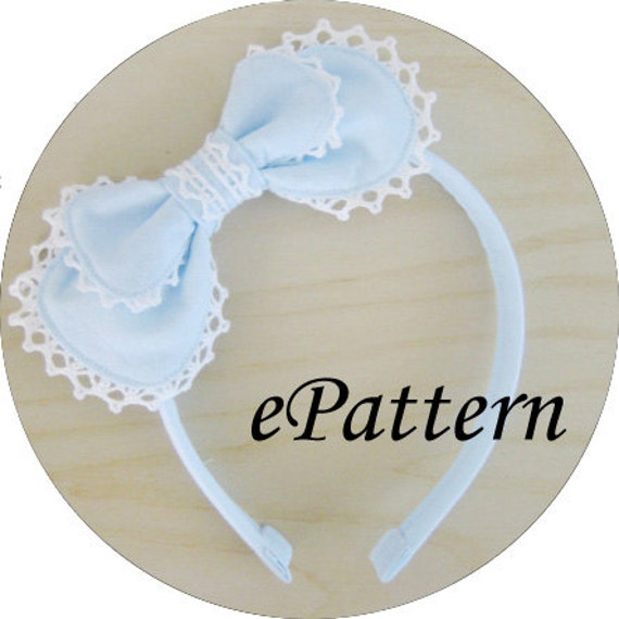 Fabric Lolita/Otome Headbow Sewing Pattern for Beginners PDF | Etsy