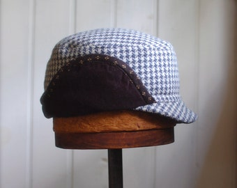 Items similar to Woodsman S  Army style hat in grey wool tweed ... 431bc2db1b