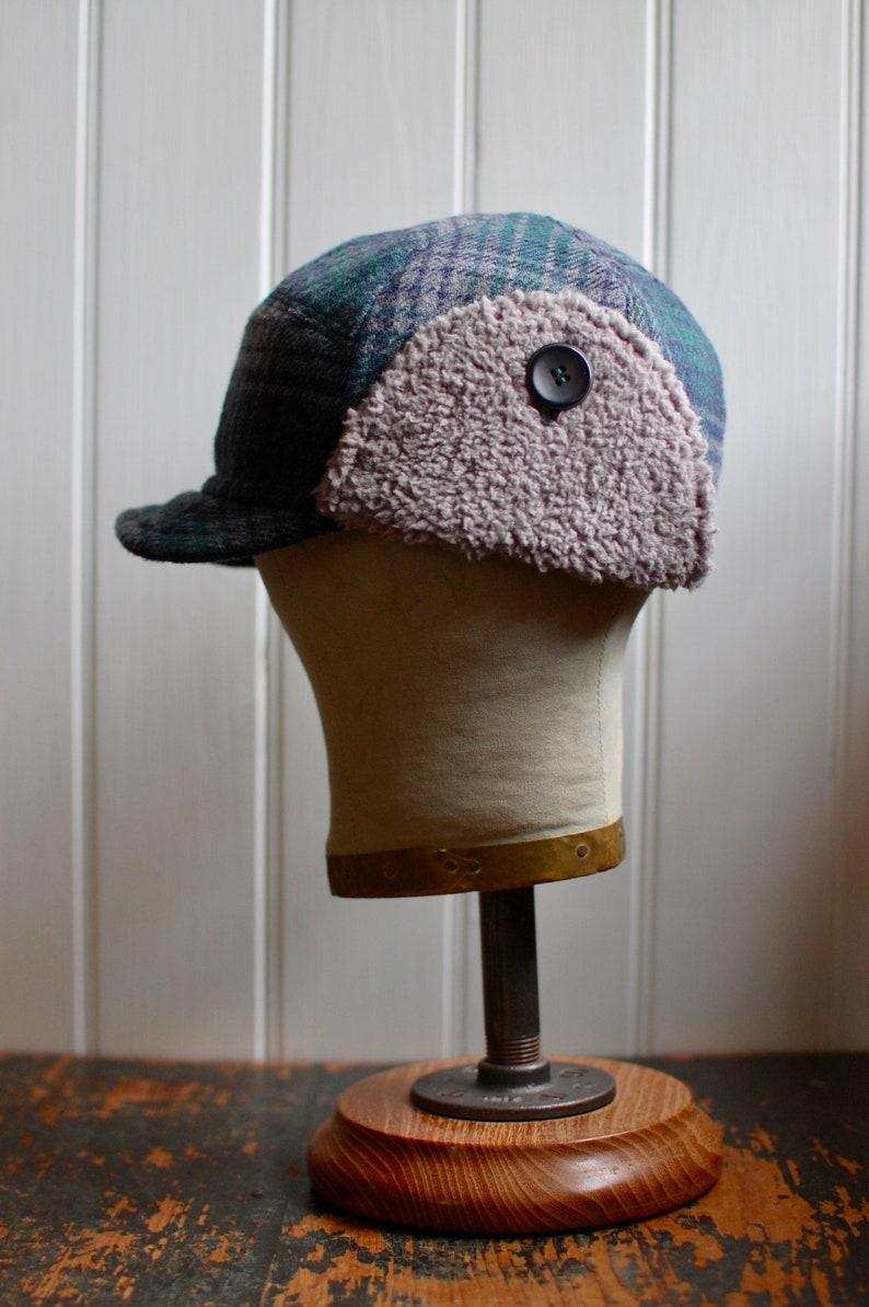 mens ear flap hat eco-friendly wool hat lumberjack hat plaid winter flap hat F1 M: Warm winter hat hipster womens ear flap hat