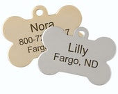 Double Sided Bone Dog ID Tags - Free Custom Laser Engraving