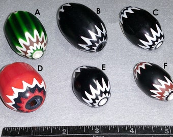 Vintage Venetian Chevron Beads 5 & 6 Layer Large Size Your Choice of Color