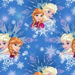 Frozen Sisters Snowflake Disney cotton woven fabric by the yard sewing quilting
