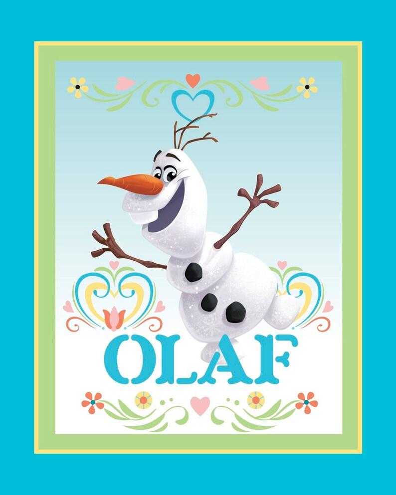 Frozen Dancing Olaf Disney PANEL cotton woven image 0