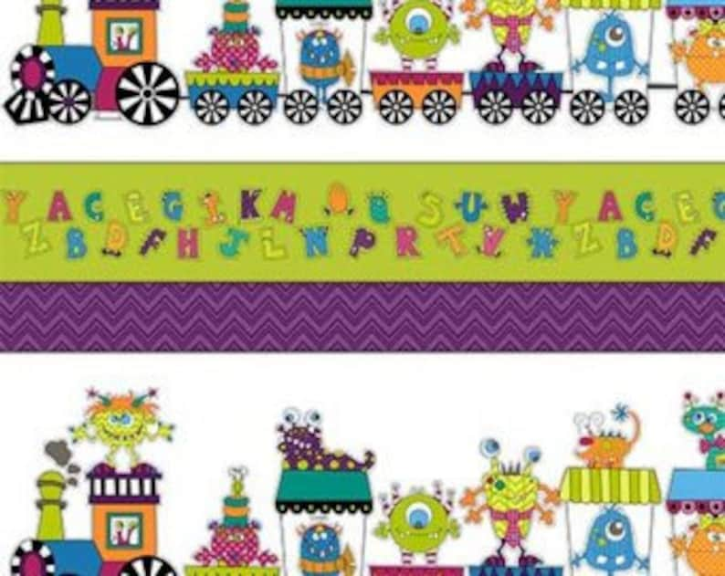 Silly Gilly ABC Stripe  Henry Glass  Cotton Woven fabric by image 0