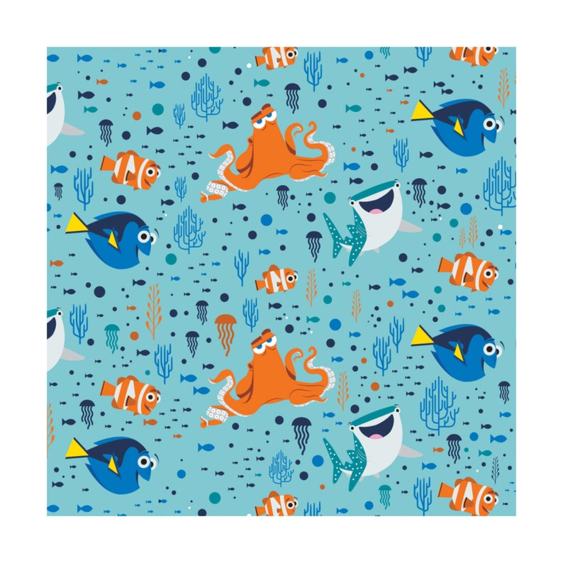 Finding Dory  Dory & Friends Disney Camelot Cotton Woven BTY image 0