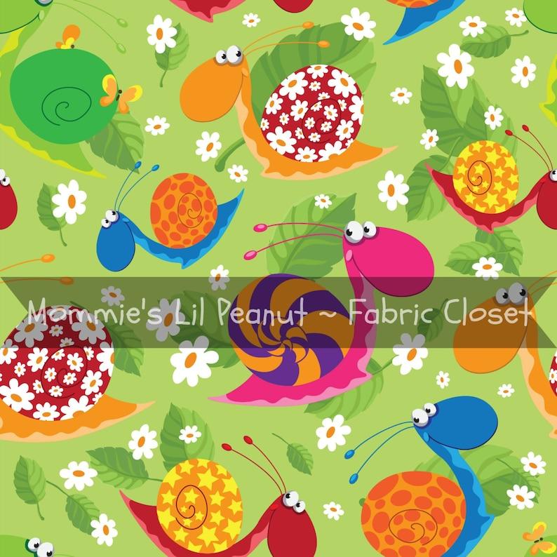 Happy Snails MLP MLP Custom Cotton/ Lycra Jersey Knit image 0