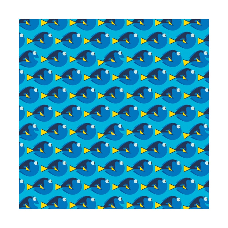 Finding Dory Dot Blue Disney Camelot Cotton Woven BTY image 0