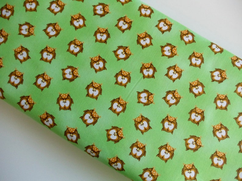 ABC 123 Owls Green  Henry Glass  Cotton Woven By The Yard image 0