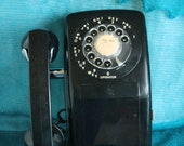 Rotary Telephone wall mounted Black