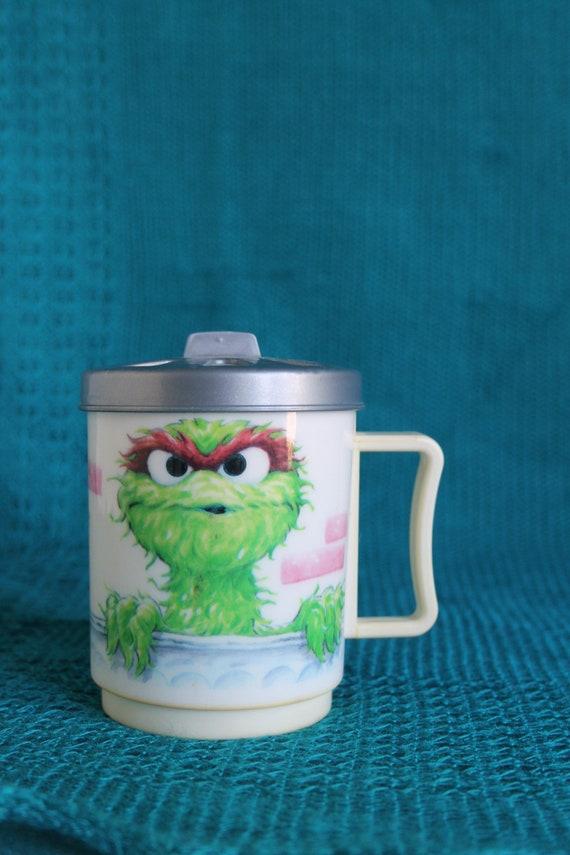 Oscar The Grouch Mug With Trash Can Lid