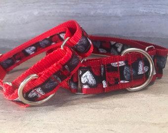 Fur-ever Love Martingale Dog Collar,  Training dog collar, Non slip dog colar,