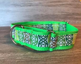 Celtic knots  Martingale Dog Collar,  Training dog collar, Greyhound dog collar. Dog collars for sighthounds.