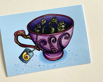 Teacup Unfortunate Souls - The Little Mermaid Postcard