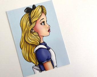Alice - Profile - Alice in Wonderland - Postcard