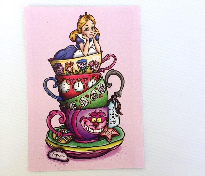Teacup Alice Postcard image 0