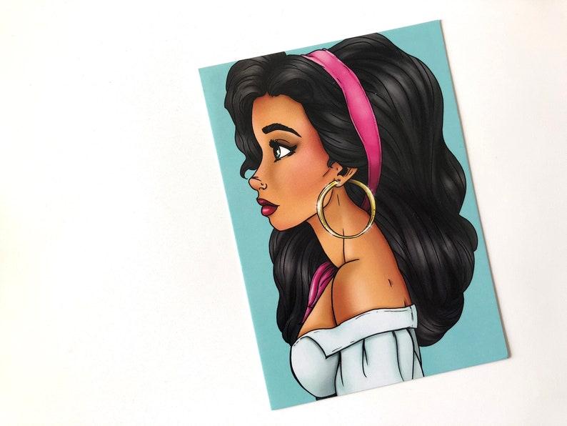 Esmeralda  The Hunchback of Notre-Dame  Postcard image 0