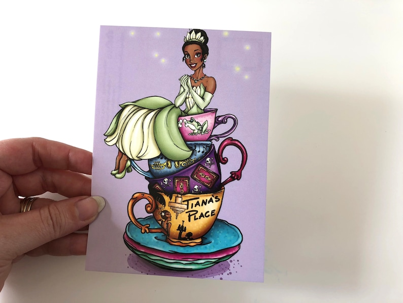 Teacup Tiana  Princess and the Frog  Postcard image 0