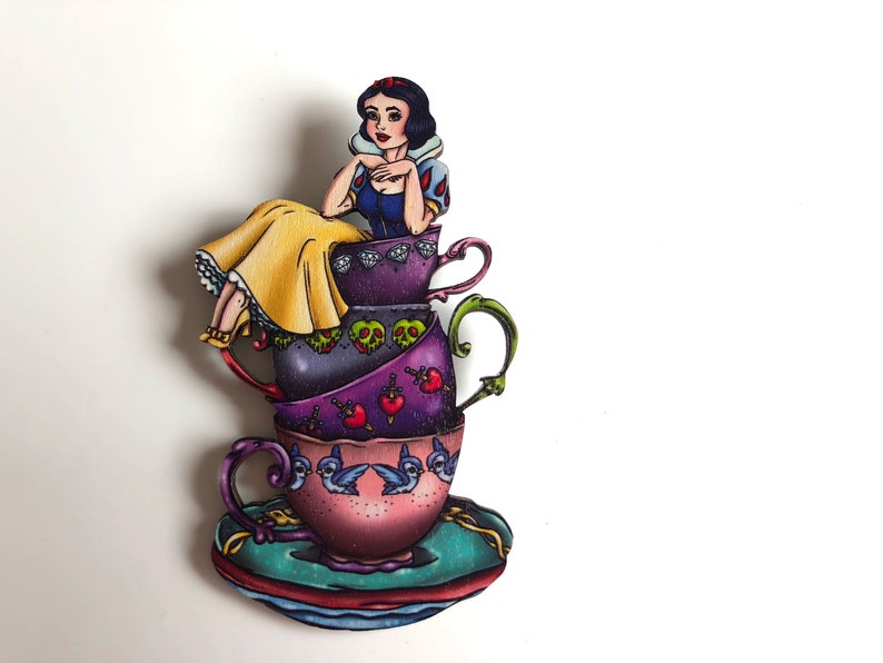 NEW LARGER Teacup Snow White  Snow White and the Seven Dwarfs image 0
