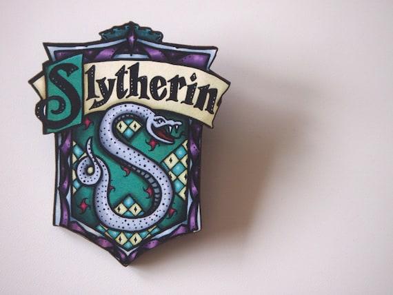 Slytherin House Shield   Harry Potter   Laser Cut Wood Brooch by Etsy