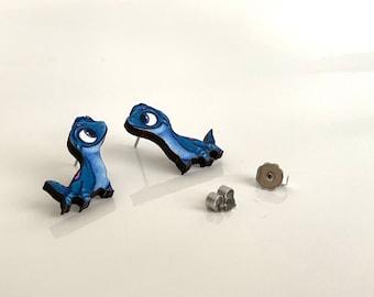 Bruni - Frozen - Laser Cut Wood Earrings