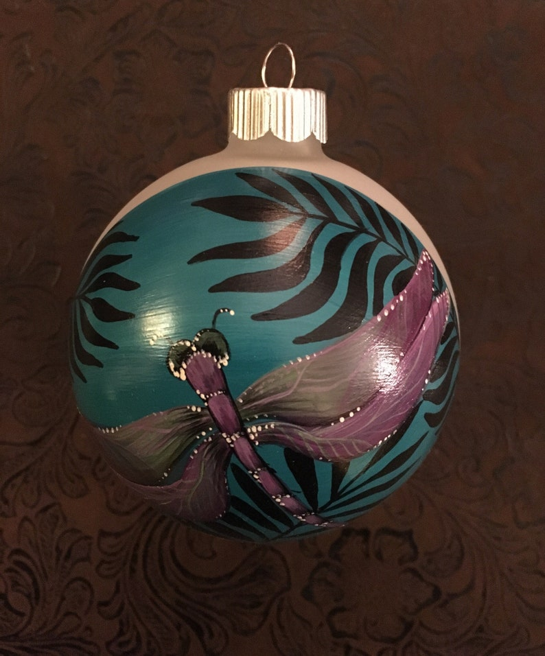 Hand Painted Dragonfly Ornament by Beooke Baker of AidensBrook