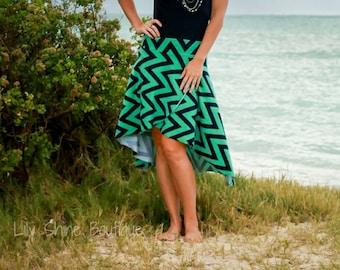 Women's Calla Lily Skirt   (XS-5X) Downloadable .PDF Sewing Pattern & E-Book