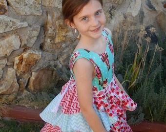 Kenzie's Party Dress & Skirt Sizes 5-18 Tween .PDF Sewing Pattern