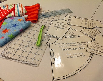 DIY TOY Little Seamstress Sewing Pattern Kit