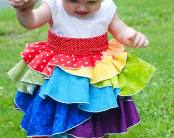 Kenzie's Party Dress & Skirt Sizes NB-4T .PDF Sewing Pattern