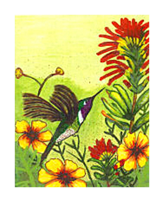 Hummingbird Bird Art Print Bird Original Painting Wall   Etsy
