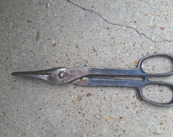 "12"" crescent tool co tin snips"