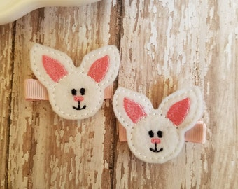 Bunny Hair Clips Feet Bow Easter Clip Felt Clippies Bows Toddler Barrettes