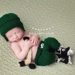 Newborn knit hockey set