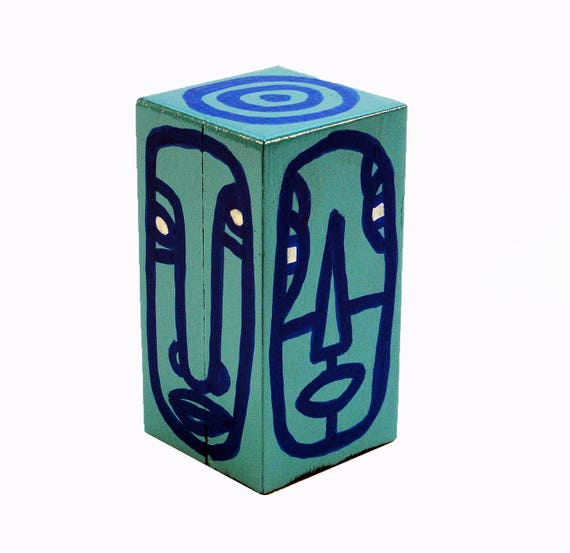 Funk Totem Part No. 227 - Original Mixed Media Block - Vol. 12