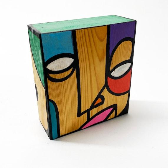 Funk Totem Part No. 444 - Original Mixed Media Block - Vol. 16